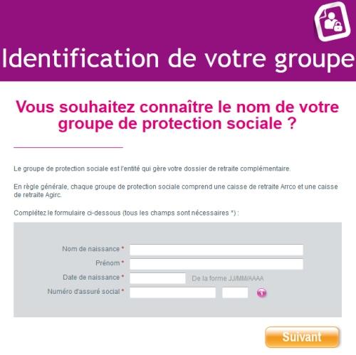 Identification de votre groupe
